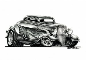 Del Swanson 32 Ford toon
