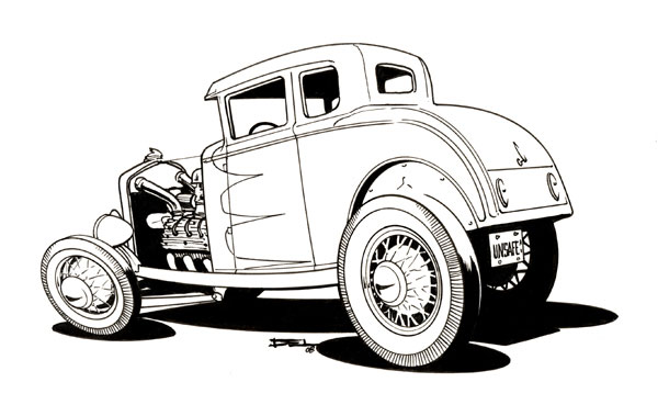 cartoons and hot rods