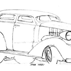Del Swanson Sketches 38 Chevy