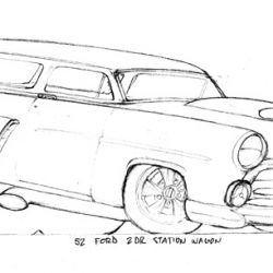 Del Swanson Sketches 52 Ford