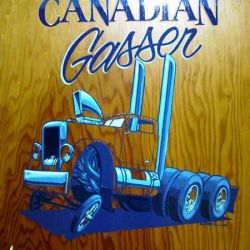 Del Swanson Canadian Gasser on Wood