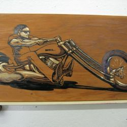 Del Swanson Chopper on Wood